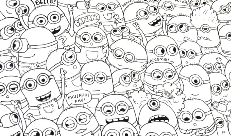 Coloring Page Minions 2