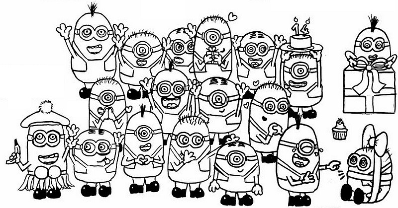 Coloring Page Minions 6