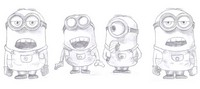 Coloring page Minions
