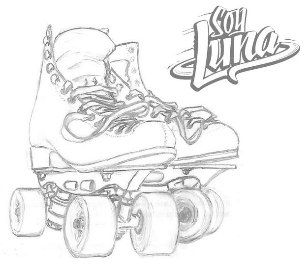 Dibujo Para Colorear Soy Luna Rollers 6