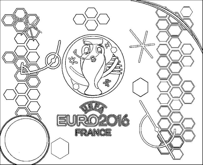 coloring page logo euro 2016