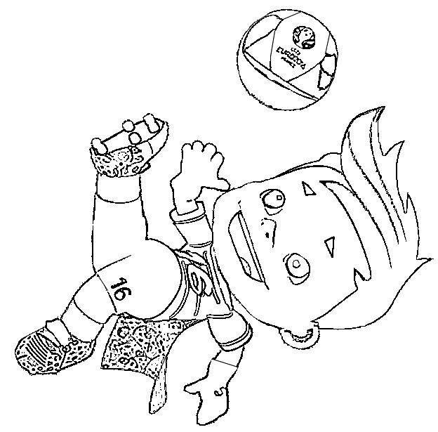 Desenho Para Colorir Uefa Euro 2016 Mascote 3