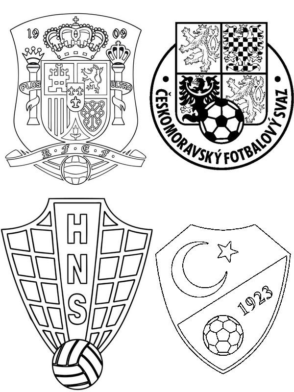 Malvorlagen UEFA EURO 2016 : Gruppe D: Kroatien - Tschechische ...