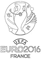 Coloring page Logo of Euro 2016 in France