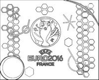 Kleurplaat Logo Euro 2016
