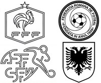 Coloring page Group A : France - Romania - Albania - Switzerland
