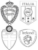 Coloring page Group E: Republic of Ireland - Sweden - Belgium - Italy