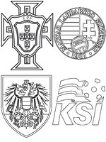 Coloring page Group F: Austria - Hungary - Portugal - Iceland