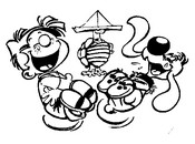 Coloring page Boule and Bill