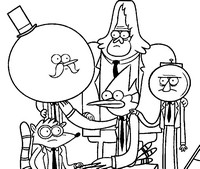 Regular show characters coloring pages coloring pages for Regular show coloring pages to print