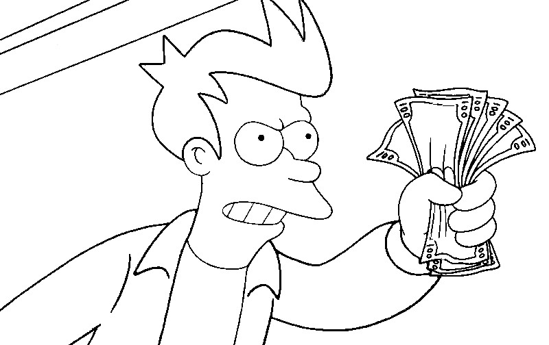 coloring pages of futurama - photo#28