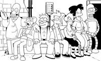 Coloring page Futurama