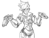 Coloring page Lena Oxton