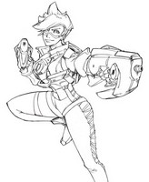 Coloring page Tracer