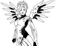 Coloring page Mercy