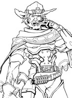 Coloring pages overwatch drawing for Overwatch coloring pages