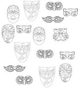 Coloring page Surround masks by ?