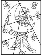 Coloring page Puzzle: Harlequin