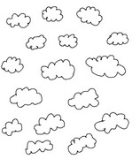 Coloring page Surround clouds by ?