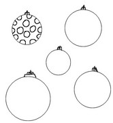 Coloring page Decorate Christmas baubles as model