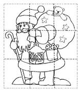 Coloring page Puzzle: Santa Claus
