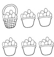 Coloring page End baskets as model