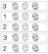 Coloring page Colour in the indicated number of eggs
