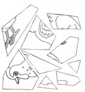Coloring page Puzzle: Easter