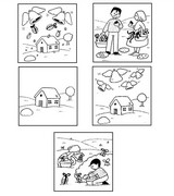 Coloring page Cut the images and put in the order