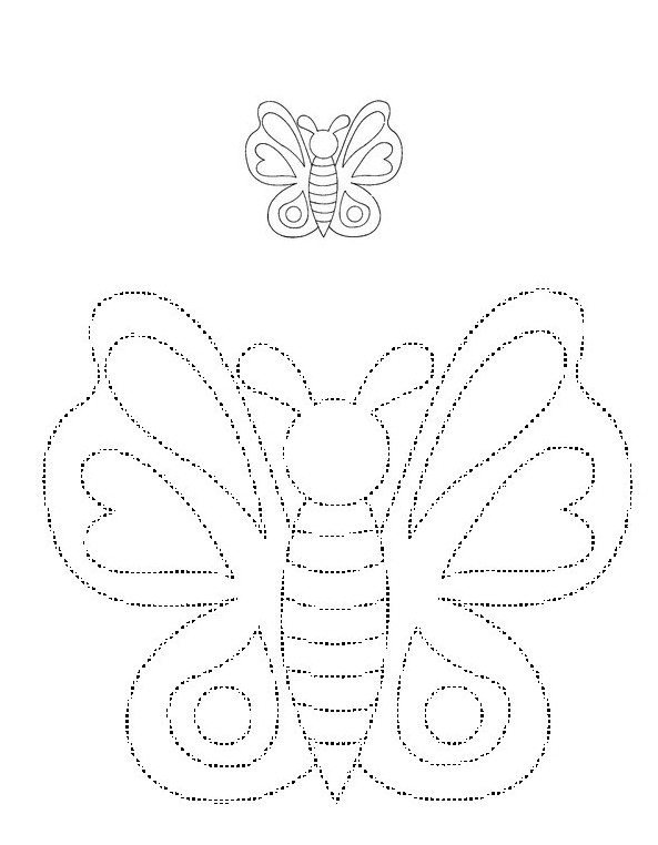 Worksheets Dotted Line Page coloring page preschool worksheets spring draw the butterfly in passing on dotted lines