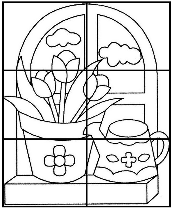 Dibujo para colorear Hojas de trabajo para preescolar Primavera 1
