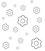 Coloring page Surround flowers by...