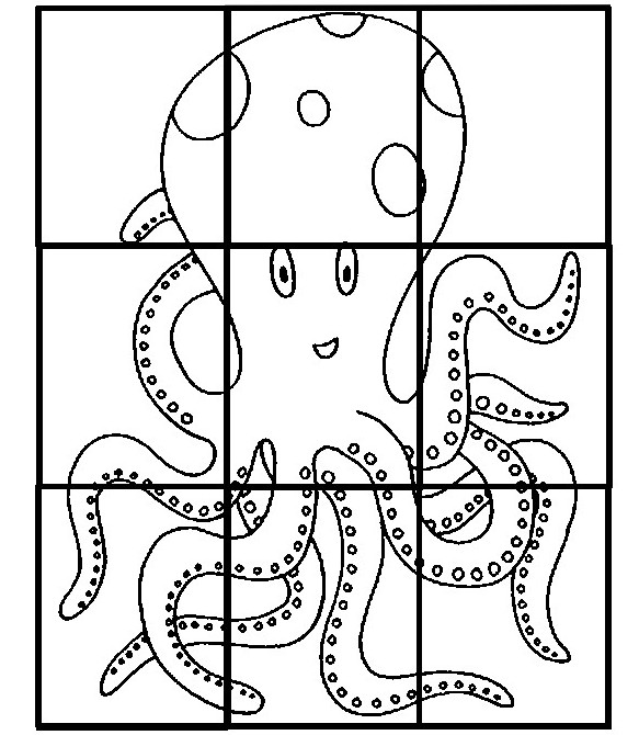 Coloring Page Preschool Worksheets Summer Puzzle Octopus 1