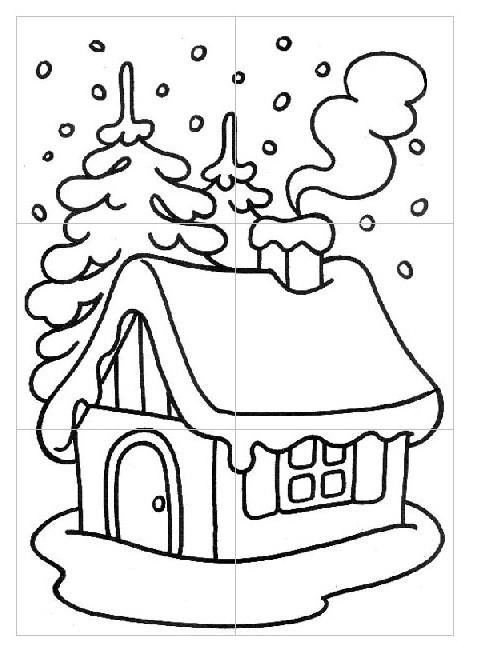 Disegno Da Colorare Schede Didattiche Inverno 1