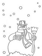 Library of preschool snowflake coloring page clip black and white ... | 190x142