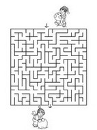 Coloring page Labyrinth - Winter