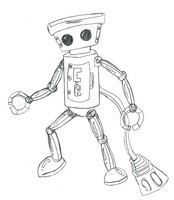 Coloring page Chibi-Robo