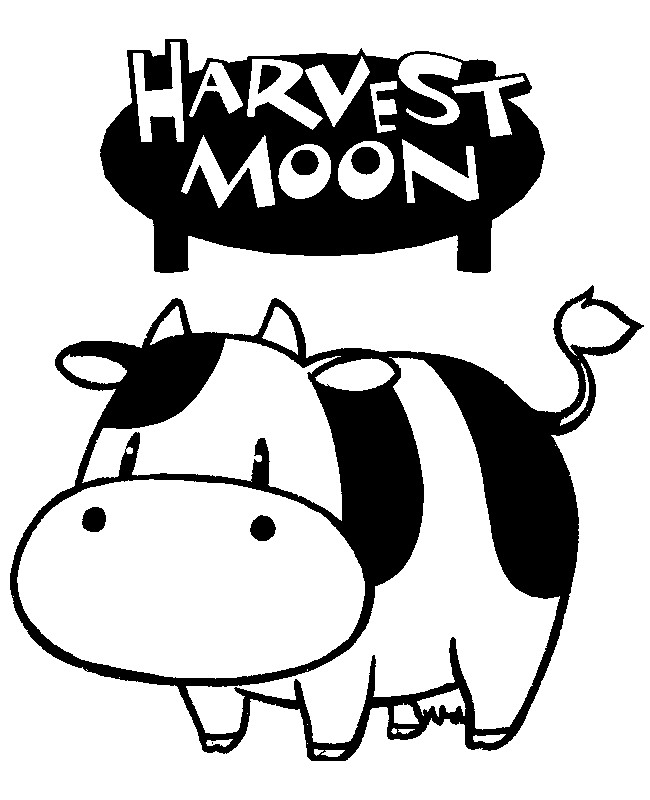 Harvest Moon Coloring Pages Coloring Page