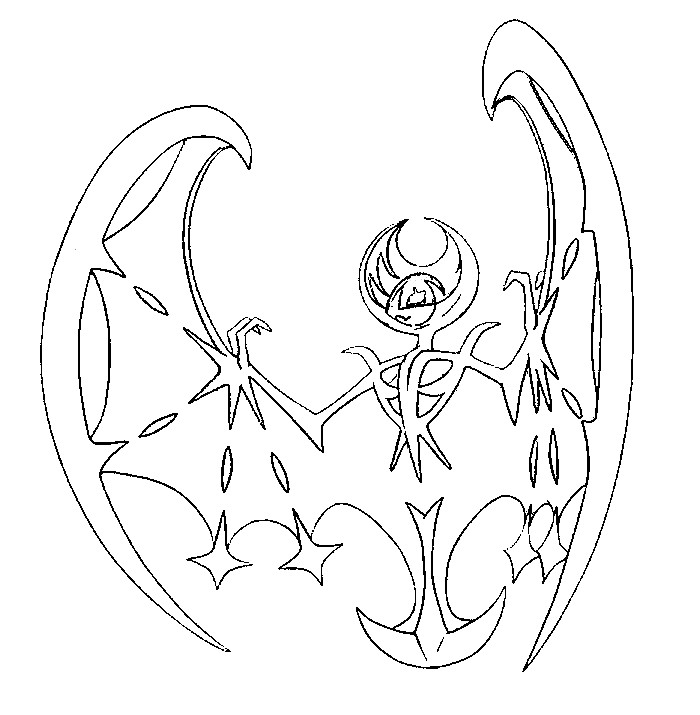 lunala - Coloring Page Pokemon