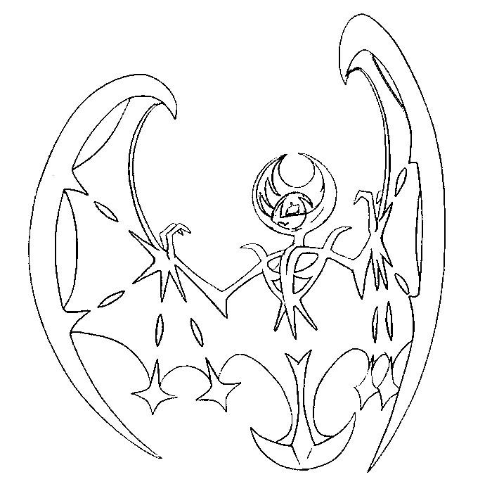 Malvorlagen Pokemon Sonne und Mond : Lunala 1