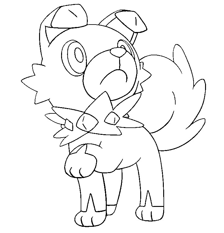 Coloring page Pokemon Sun and Moon Rockruff 12