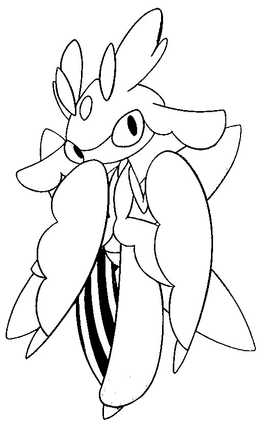 Coloring Page Pokemon Sun And Moon Lurantis 27