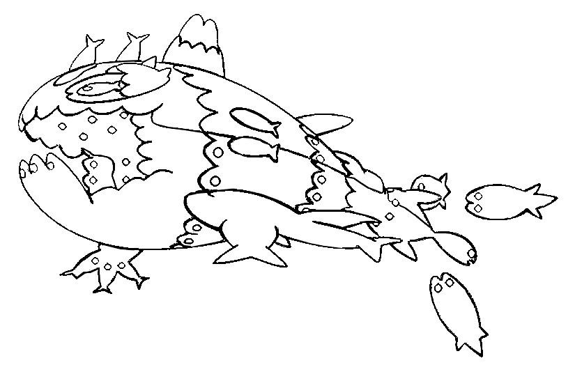 Coloring Page Pokemon Sun And Moon Wishiwashi School Form 35
