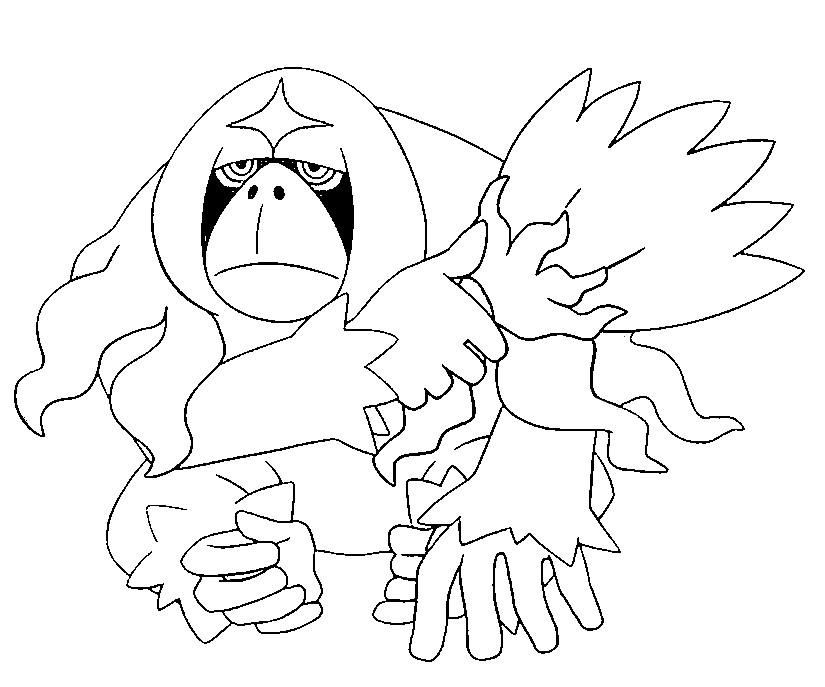 Disegno Da Colorare Pokémon Sole E Luna Oranguru 44