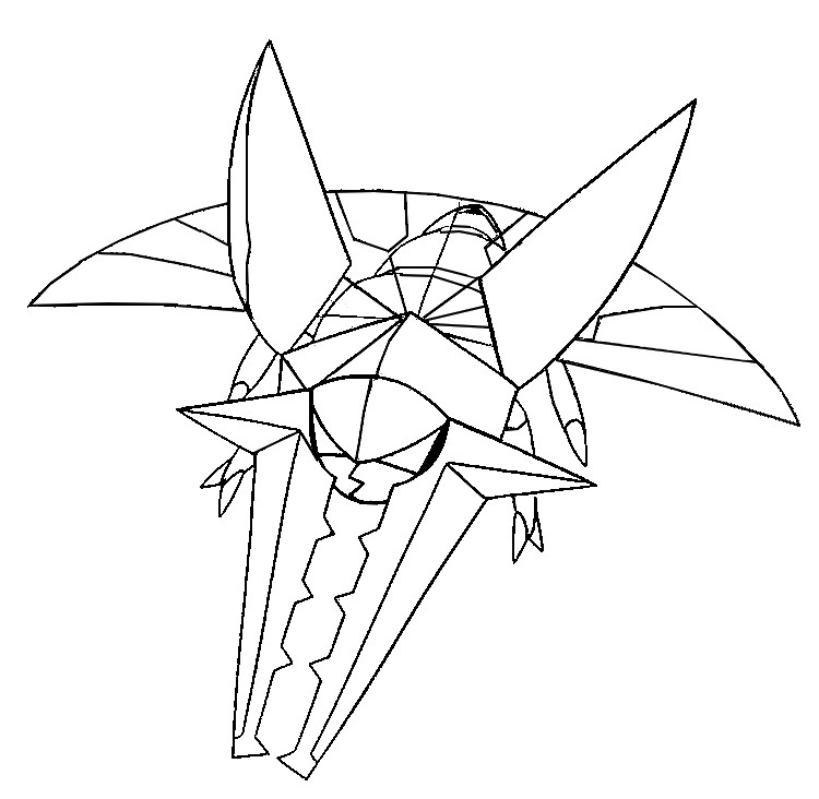 Coloring page Pokemon Sun and Moon Vikavolt 5