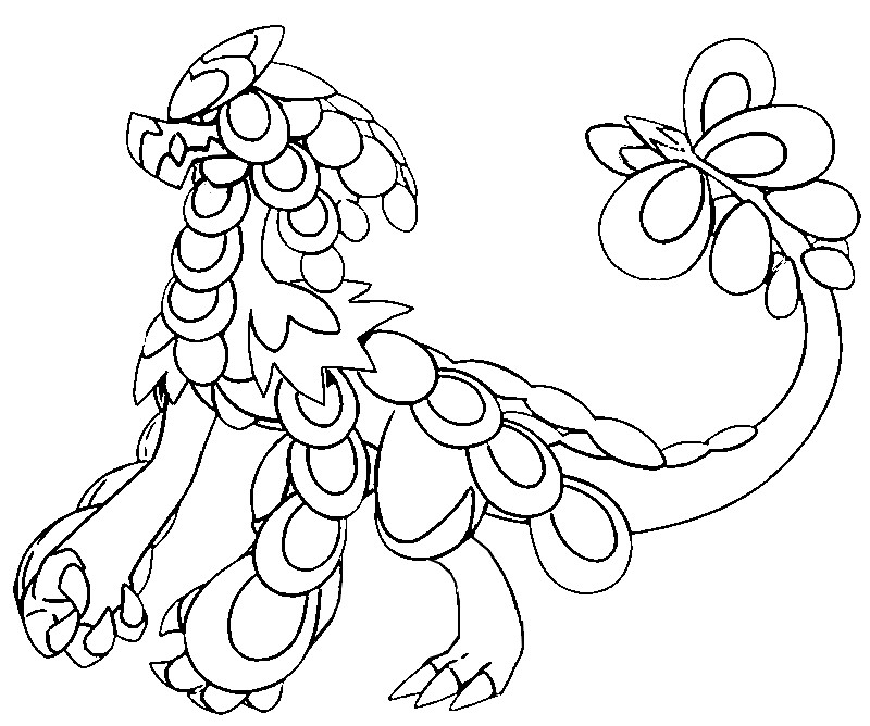 coloring page pokemon sun and moon kommo o 56