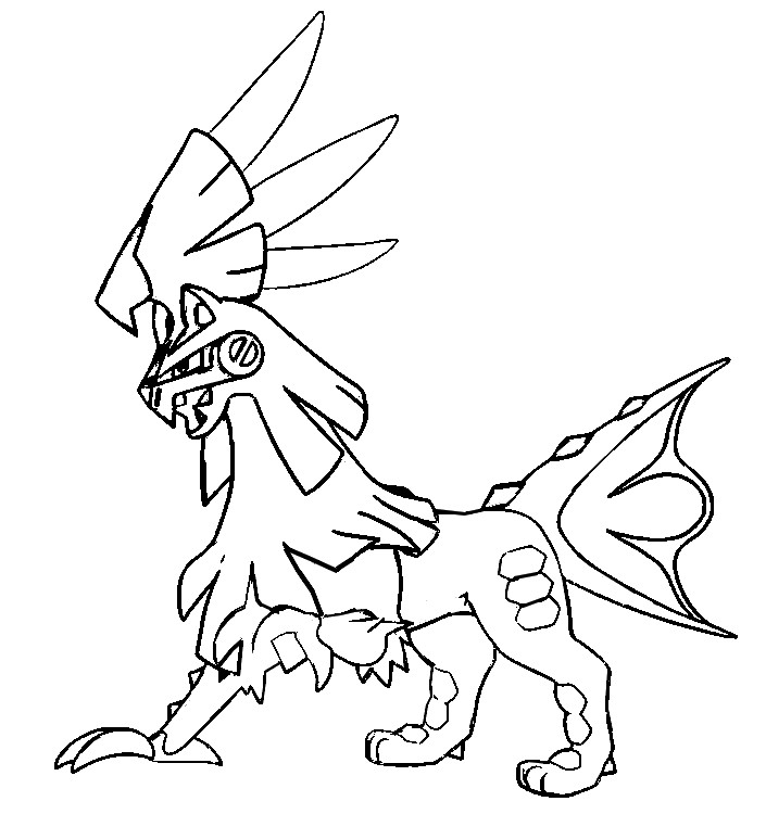 Coloring page Pokémon Sun and Moon : Silvally 58