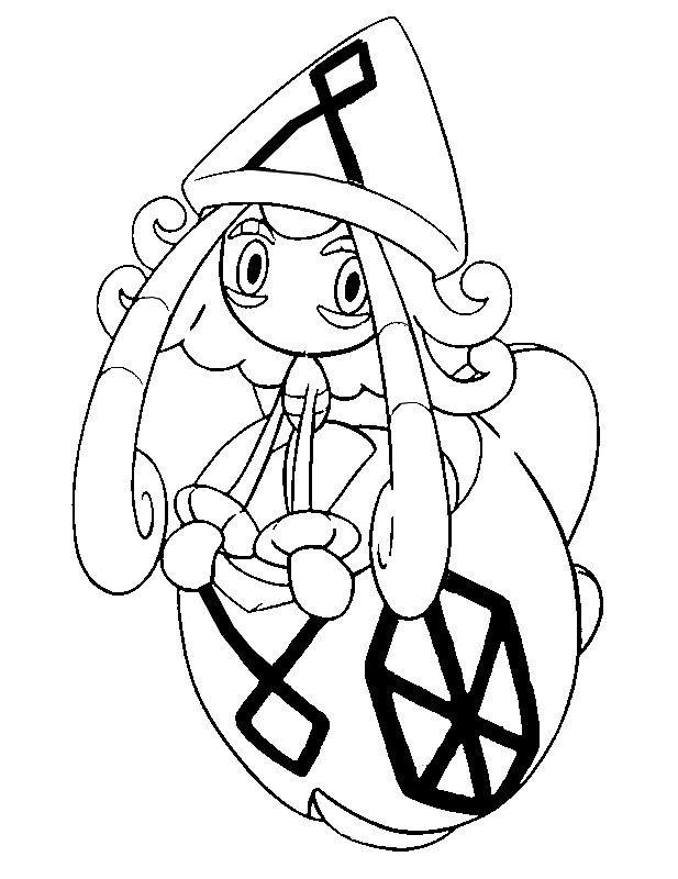 Coloring Page Pokemon Sun And Moon Tapu Lele 63