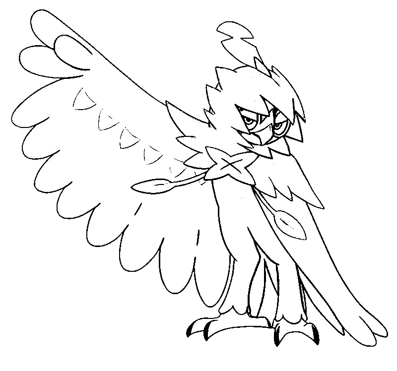 Coloring Page Pokemon Sun And Moon Decidueye 65