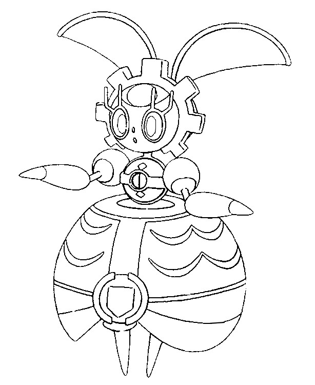 Coloring page Pokemon Sun and Moon Magearna 7